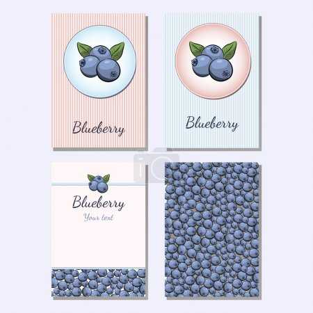 Background of blueberry
