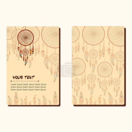 Cards with dreamcatcher