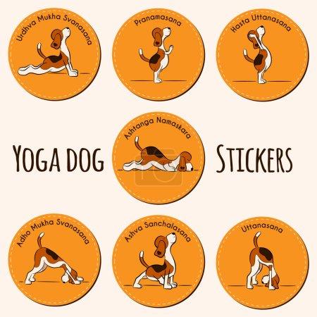 cartoon funny dog doing yoga