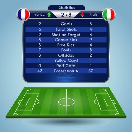 Broadcast Graphics for Sport Program. Football Soccer Match Statistics