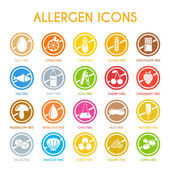 Allergen icons vector