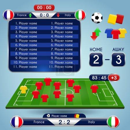 Broadcast Graphics for Sport Program. Soccer match statistics