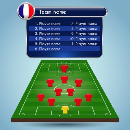 Broadcast Graphics for Sport Program. Football Soccer