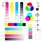 printer marks: printing cutting and calibration