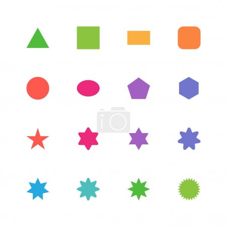 Illustration for Geometric icons set. Vector illustration - Royalty Free Image