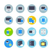Devices icons set