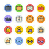 Clothing and accessories icons set