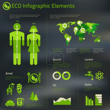 Abstract infographics template