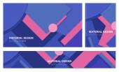 Abstract  material design backgrounds