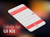 3d isometric material design calendar apps