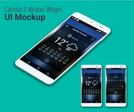 Illustration for Mobile UI smartphone mockup. Vector Illustration - Royalty Free Image