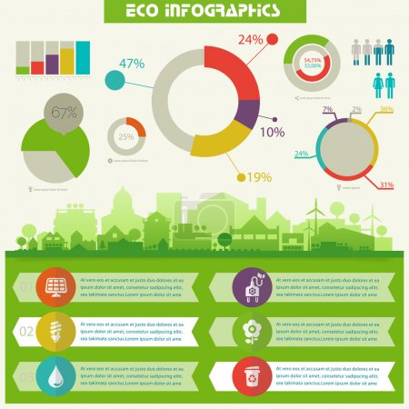 Utility ecological infographics