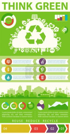 Think Green infographics