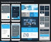 Flat design responsive UI mobile apps