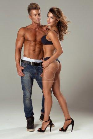 Beautiful athletic couple.