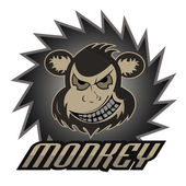 Monkey logo team  professional logo