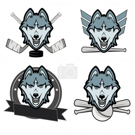 Modern professional wolf logo for a club or sport team