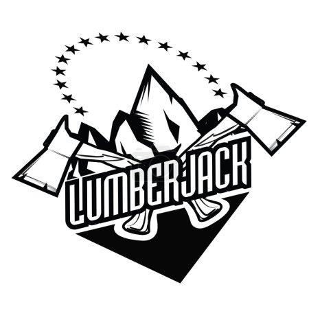 Lumberjack since ever. Hipster vintage style vector illustration.