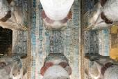"""Постер, картина, фотообои """"Цветные фрески на потолке древнего храма Хатхор"""""""