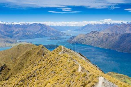 Photo pour Lac wanaka et parc national Mt Aspiring, Nouvelle-Zélande - image libre de droit