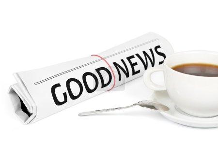 Photo pour Bon texte News Journal roll sur fond blanc - image libre de droit