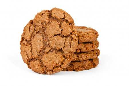 Delicious  oatmeal cookies isolated