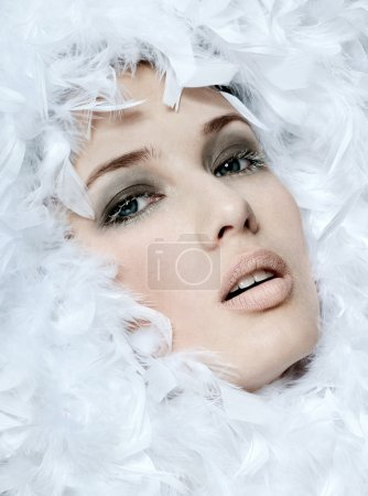 fashionable woman's face