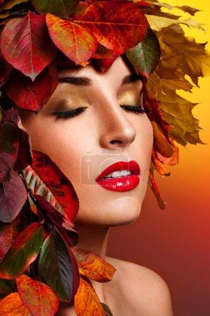 Autumn Woman Fashion Portrait