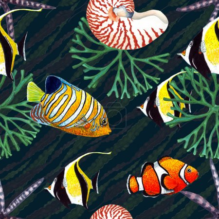 Tropical Fish Pattern.