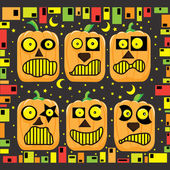 Halloween Cute Pumpkin Faces