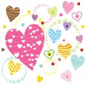 A vector illustration of Hearts Shape Patterns Perfect for Valentine's card wedding card and many more