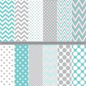 Polka Dot and Chevron seamless pattern set