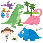 Cute Dinosaurs Elements