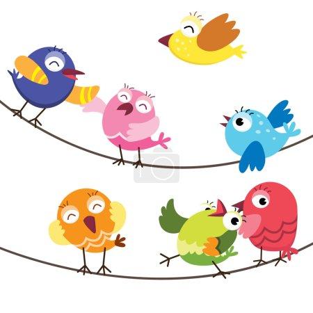 Happy Cute Birds