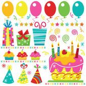 A vector illustration of Surprise Birthday Elements Perfect for birthday card party card and many more