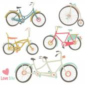 A vector illustration of Vintage Bike Collection