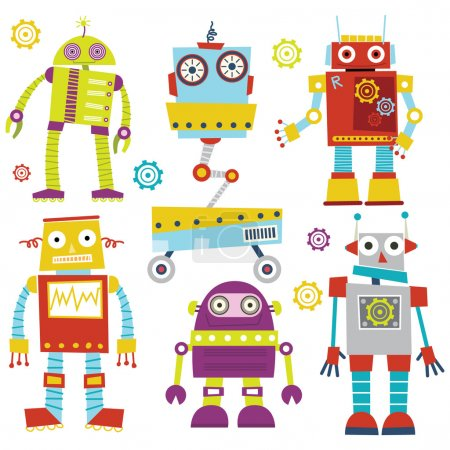 Set of Cute Robots