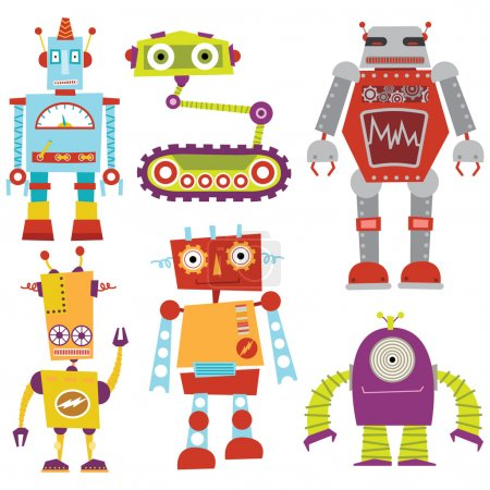 Cute Robot Set