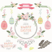Floral Easter Design Elements