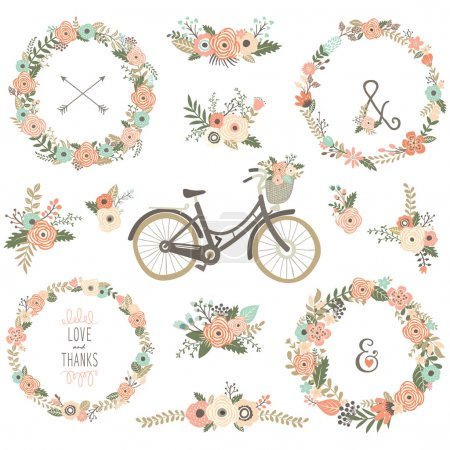 Vintage Flower Bicycles