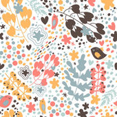 Lovely seamless pattern with small birds