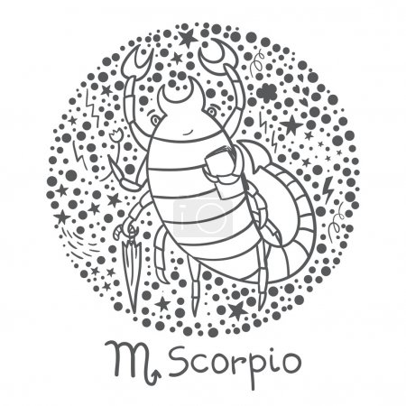 Cute zodiac sign - Scorpio.