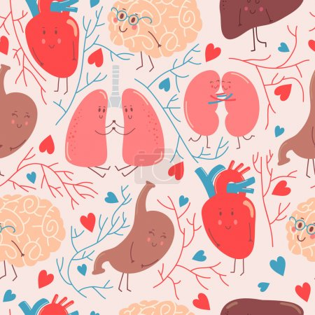 pattern with funny organs