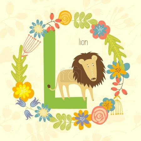 Cute Zoo alphabet, Lion
