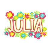 beautiful name Julia in flowers