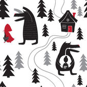 pattern with Red Riding Hood
