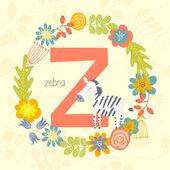 Cute Zoo alphabet, Zebra