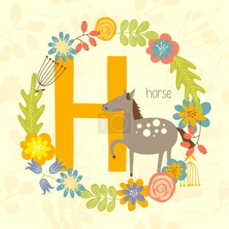 Cute Zoo alphabet, Horse