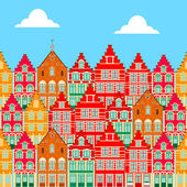 Buildings house in  Brugge vector icon