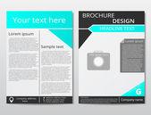 Vektorové leták brožura design geometrické šablona abstrakt. Černá, modrá barva